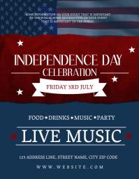 Independence Celebration Event Flyer Template Рекламная листовка (US Letter)