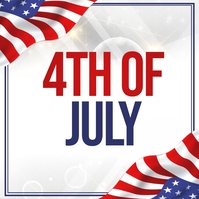 independence day, 4th of july Cuadrado (1:1) template