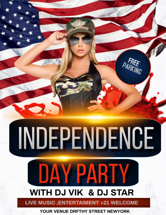 independence day, memorial day Flyer (US Letter) template