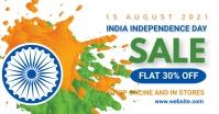 Independence day,15 august,event Facebook Gedeelde Prent template