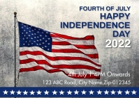 Independence day,event,4th of july Poskaart template