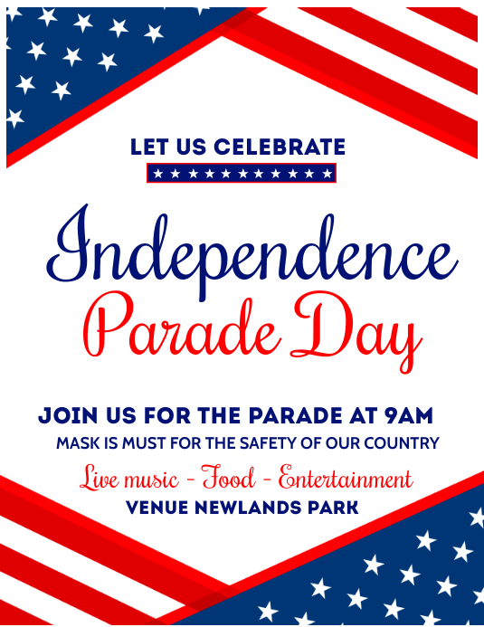 independence day,memorial day, veterans day Flyer (US-Letter) template