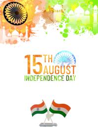 Independence day 15th august template Iflaya (Incwadi ye-US)