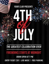 independence day 4th of july celebration Folheto (US Letter) template