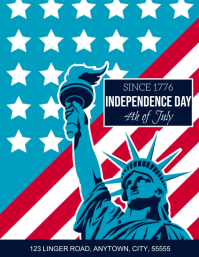 INDEPENDENCE DAY 4TH OF JULY FLYER TEMPLATE