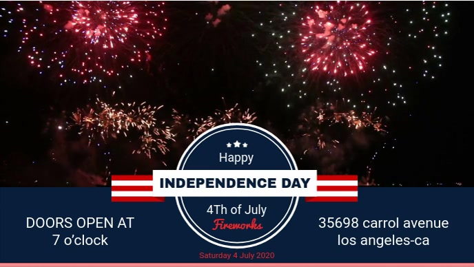 Independence Day BBQ Event Invitation Facebook Cover Video Film w tle na Facebooka (16:9) template