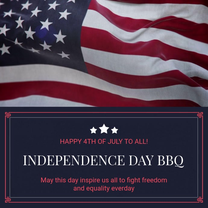 Independence Day BBQ Party Instagram Video Invitation
