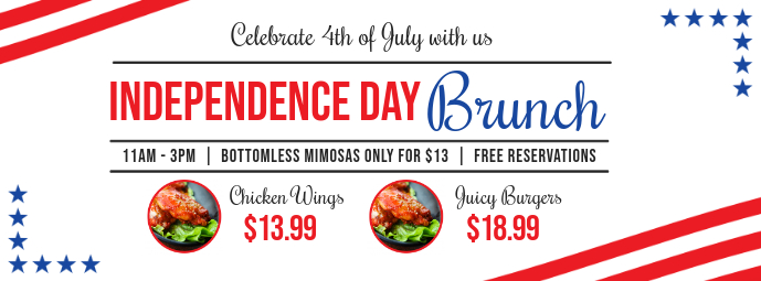 Independence Day Brunch Facebook Cover Template