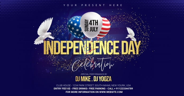 independence Day Celebration ads Facebook 广告 template
