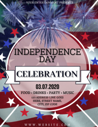 Independence Day Celebration Flyer Template