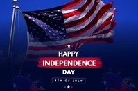 Independence Day Banner 4' × 6' template