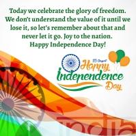 Independence Day โพสต์บน Instagram template