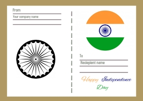 Independence day Postcard template