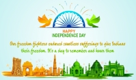 Independence day Cartellino template