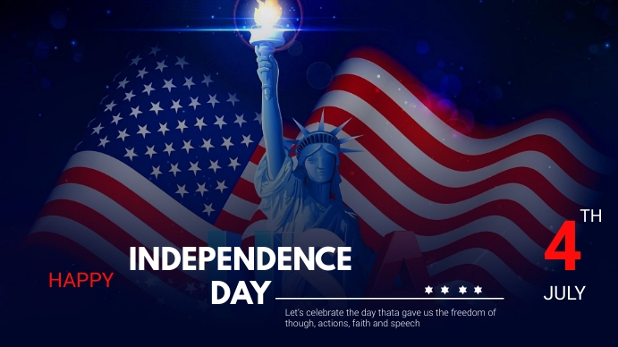 Independence day Digitalanzeige (16:9) template