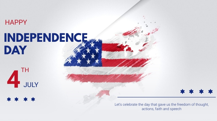 Independence day Digital Display (16:9) template