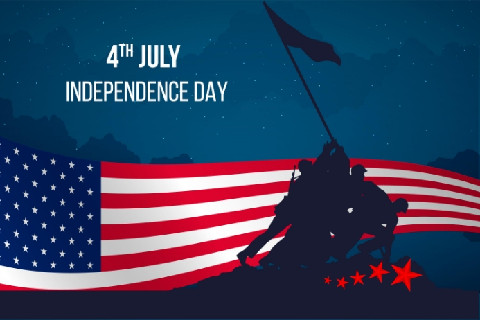 independence day Rótulo template