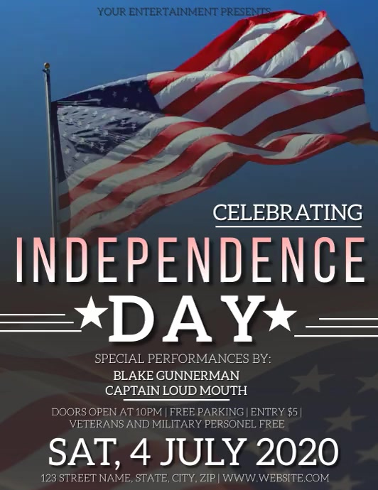 INDEPENDENCE DAY EVENT Flyer Template Pamflet (Letter AS)