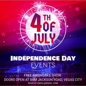 Independence Day Event Invitation Instagram Ad Video Square (1:1) template