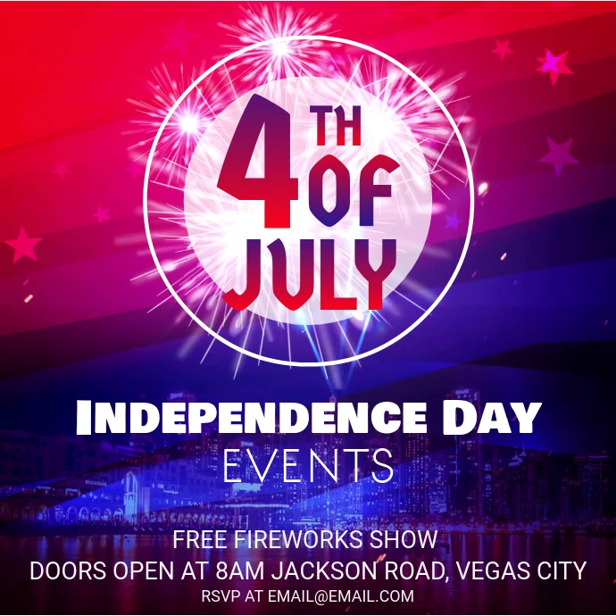 Independence Day Event Invitation Instagram Ad Video