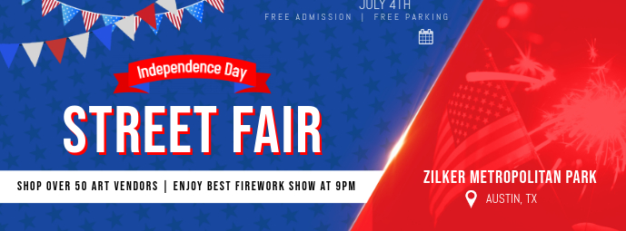 Independence Day Fair Facebook Cover Template