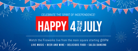 Independence Day Fireworks Facebook Cover Template