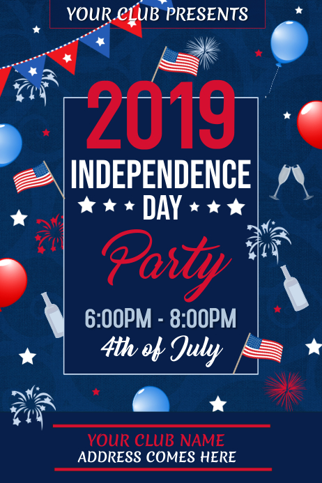 Independence Day Flyer, 4th of July Flyer
