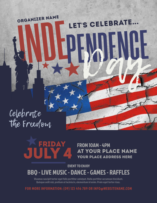 Retro Independence Day Flyer