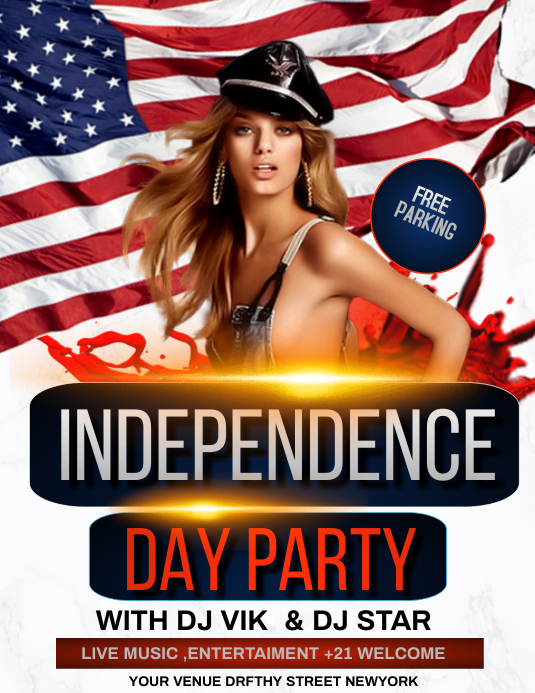 Independence day flyers,memorial day Pamflet (Letter AS) template