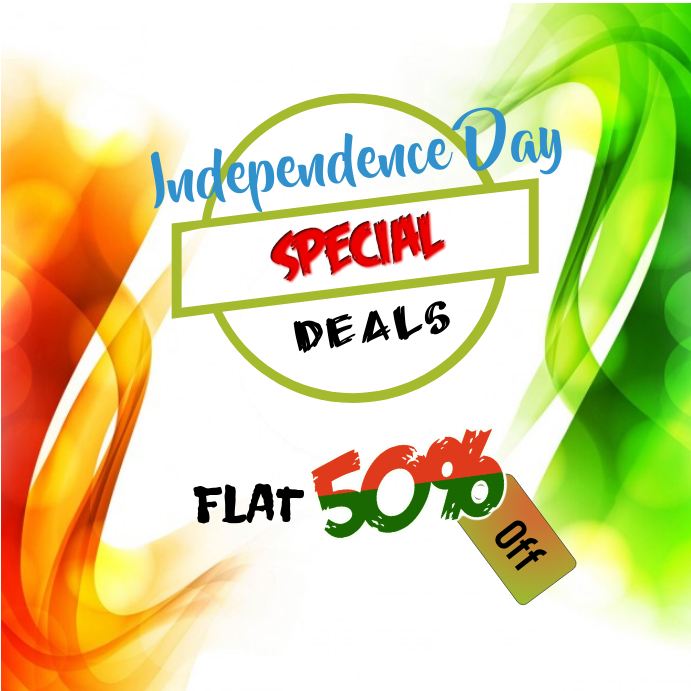 independence day INDIA shopping flyer Instagram Plasing template