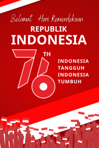 Independence Day Indonesia Poster template