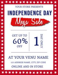Independence Day Mega Sale Flyer Template