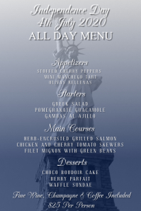Independence Day Menu