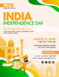 Independence Day of India Flyer With Illustra template