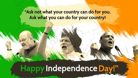 Independence Day of India Template Facebook 封面视频 (16:9)