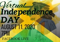 Independence day of Jamaica event flyer Postal template