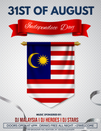 Independence day of Malaysia ,31st August Flyer (US Letter) template