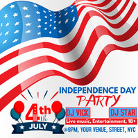 Independence day party Iphosti le-Instagram template