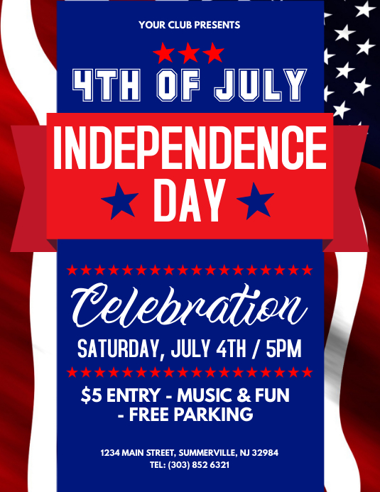 Independence Day Flyer | Independence Day Flyer Template Postermywall