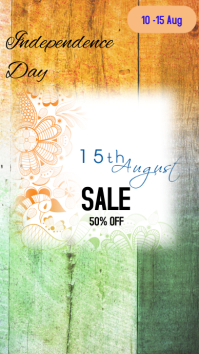 Independence day sale Instagram Story template