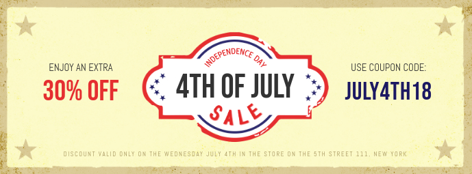Independence Day Sale Facebook Cover Template