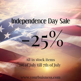 independence day sale insta template ad Square (1:1)