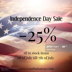 independence day sale insta template