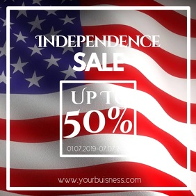 Independence day sale instagram advert