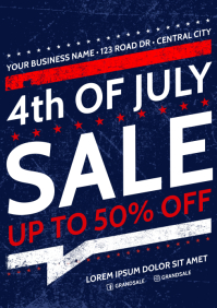 INDEPENDENCE DAY SALE POSTER A4 template