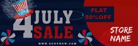 Independence Day Sale Template Spanduk 2' × 6'