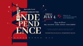 Independence Day Twitter Post Twitter-Beitrag template