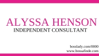 independent consultant business card template