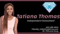 independent Jewelry Consultant Visitkort template