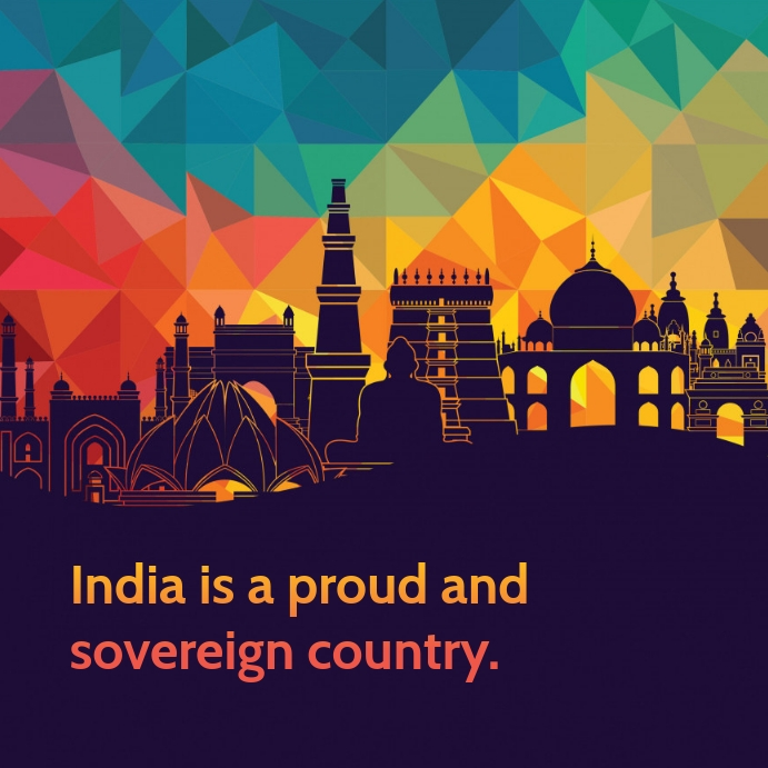 India Country Poster template